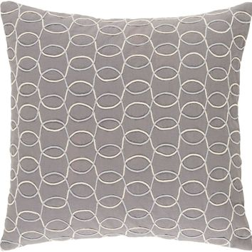 Solid Bold II Throw Pillow Gray, Neutral