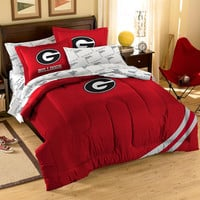 Georgia Bulldogs NCAA Embroidered Comforter Set (Twin-Full) (64 x 86)