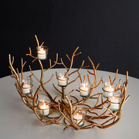 Italian-Gold Twig Votive Holder