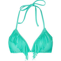KANDY WRAPPERS Signature Fringe Bikini Top 207359524 | Swimsuits | Tillys.com
