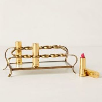 Tiered Vestige Cosmetics Holder by Anthropologie in Gold Size: One Size Vests