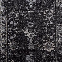 3070 Black Distressed Oriental Area Rugs