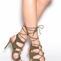 Fresh Romance Lace-Up Heels