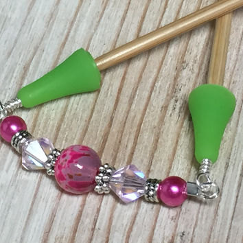 Pink Beaded Point Protector- Stitch Holder