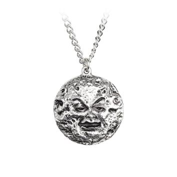 Alchemy Gothic Man In The Moon Pendant Necklace Jewelry Mera Luna