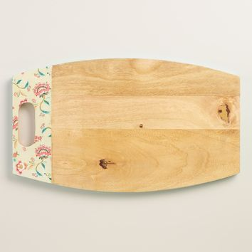 Tessie Floral Mango Wood Cutting Board