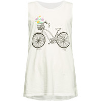 O'neill Sunday Rides Girls Tank White  In Sizes