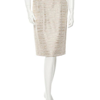 Carolina Herrera Bouclé Skirt w/ Tags