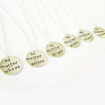 6 best friends necklaces long distance necklace personalized jewelry, gift for best friends six best friend jewelry friendship bff necklace