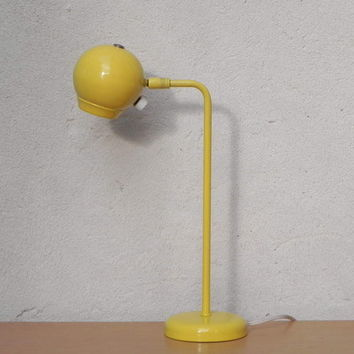 Mid Century Kovacs Yellow Eyeball Desk Lamp