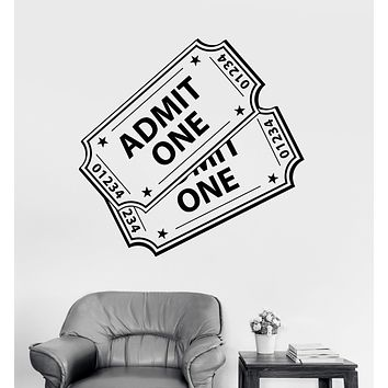 Vinyl Wall Decal Movie Tickets Cinema Theater Film Decor Stickers Unique Gift (1748ig)