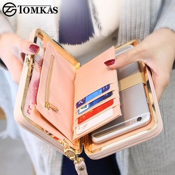 TOMKAS Phone Case For iPhone X 8 7 6 Plus Women Wallet Litchi Patterned Leather Phone Bag Case For Xiaomi Redmi 4X Note 4X Mi A1