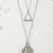 Wire-Wrapped Faux Stone Geo Necklace Set