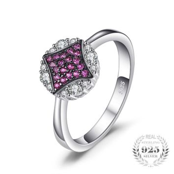 Rubies and Stars Sterling Silver Promise Ring