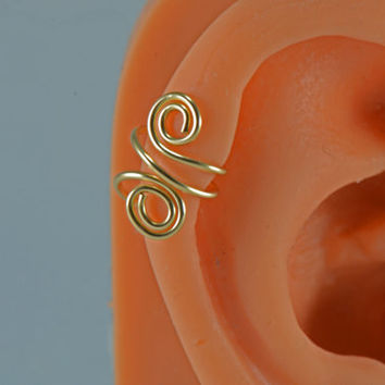 Upper Cartilage Gold Filled Spiral Earring Cuff