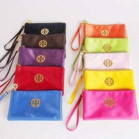 Portable cosmetic bag three layers multifunctional change mobile phone to receive package (10-color)-1