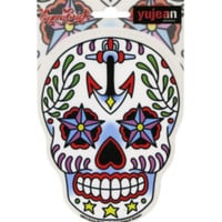Anchor Star Sugar Skull Sticker
