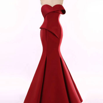 Red Haute couture Evening Gowns from Texas Designer Darius