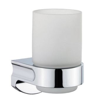 Sonia S1 Wall Mounted Frosted Glass Toothbrush Toothpaste Holder Tumbler, Brass