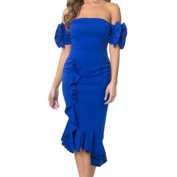 Ruffled Salsa Dancing Style Dress