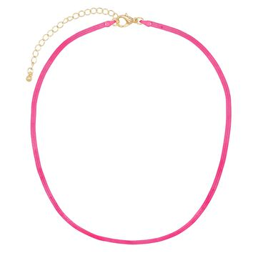 Neon Herringbone Necklace