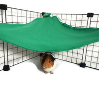 Guinea pig hammock, small animal hammock, corner hammock, pet hideout, guinea pig toy, fleece cage accessories, rat chinchilla rabbit ferret