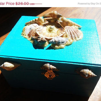 Jewelry Box, Treasure Box, Trinket Box, Mermaid Box, Mermaid Jewelry, Sea Shell Box, Shell box, Keepsake Box