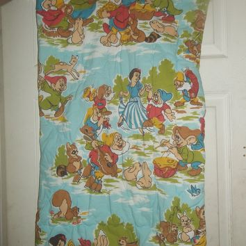 vintage walt disney snow white and the 7 seven dwarfs sleeping bag child infant