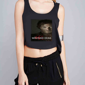 daryl dixon the walking dead for Crop Tank Girls S, M, L, XL, XXL *07*