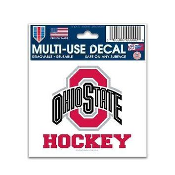 "Licensed Ohio State Buckeyes NCAA 3"" x 4"" Car Window Cling Decal OSU Wincraft 695277 KO_19_1"