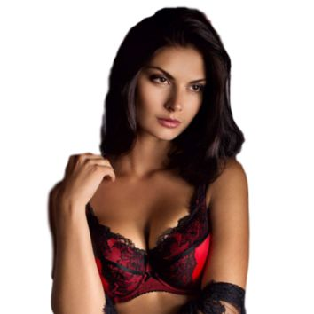 LACY HALF PADDED FULL FIGURE BRA ROSME PIERRETTE (RS595417)