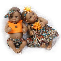 Silicone Baby Dolls 10 Inches Africa America Alive