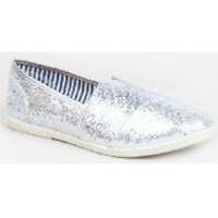 Soda Object Flats Womens Shoes Silver Size 6 ~