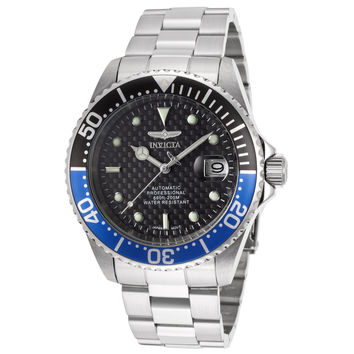 Invicta 15584 Men's Pro Diver Black & Blue Bezel Black Dial Automatic Dive Watch