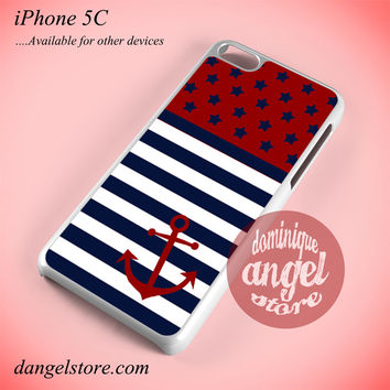 Reverse American Flag Anchor Phone case for iPhone 5C and another iPhone devices