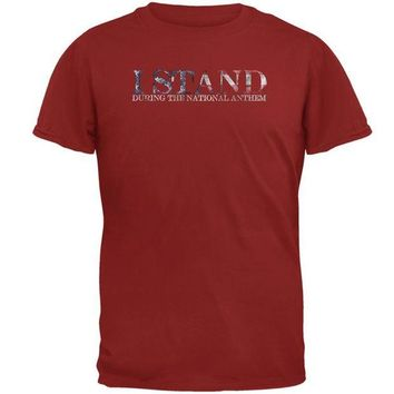 DCCKU3R 4th of July I Stand During the American National Anthem Mens T Shirt