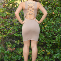 Back to the Future Dress - Mocha