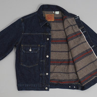 levis vintage clothing - 1953 type 2 jacket blanket lined