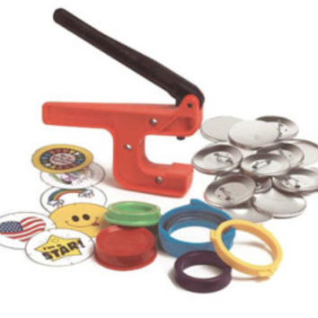 "Button-Maker: 1 1/4"" Starter System - Hand Press Button Maker/Button Machine & Supplies!"