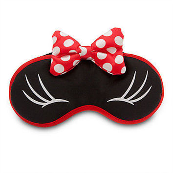 disney parks plush sleep eye mask minnie mouse bow new sealed