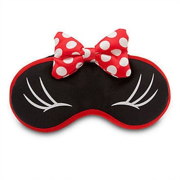 c0334b5db9c7 disney parks plush sleep eye mask minnie mouse bow new sealed