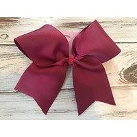 4 inch ribbon cheer bow
