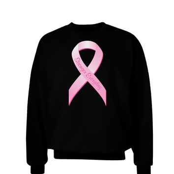 Pink Breast Cancer Awareness Ribbon - Stronger Everyday Adult Dark Sweatshirt