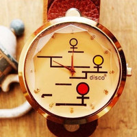 Men watch,Lady Watch Brown Leather Watch, Handmade Women's Watch, Everyday Bracelet  PB0142