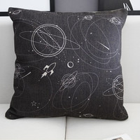 Star Trek  Pillow Cover, Linen Pillow Cover, shame 18x18 -Premier  Prints ,Decorativer Pillow Cover