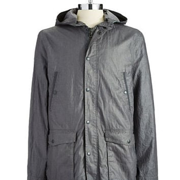 John Varvatos U.S.A. Hooded Linen Jacket