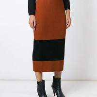 Fendi Ribbed Midi Skirt - Liska - Farfetch.com