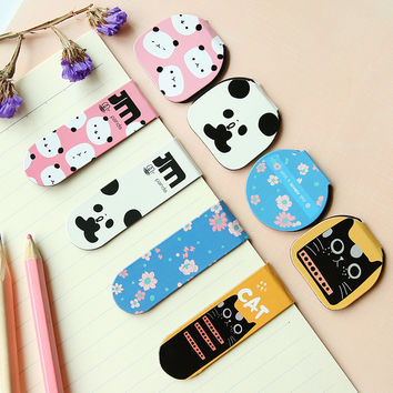 H03 2pc pack Kawaii Lovely Panda Magnetic Bookmarks Book Marker of Page Stationery School Office Supply Student Rewarding Prize