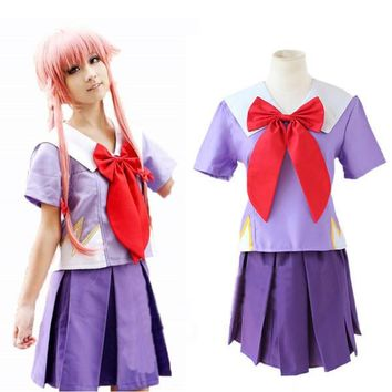 The Future Diary Heroine Gasai Yuno Mirai Nikki Cosplay Costume High Quality Custom School Uniform Full Set Colthes - Beauty Ticks