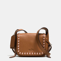 RIVETS DAKOTAH 14 CROSSBODY IN PEBBLE LEATHER